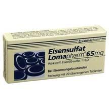 Produktbild Eisensulfat Lomapharm 65 mg überzogene Tabletten