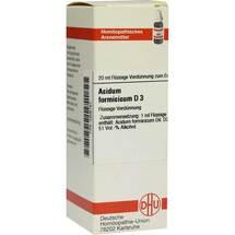 Acidum formicicum D 3 Dilution