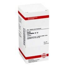 Produktbild Carbo vegetabilis D 12 Tabletten