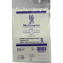 Produktbild Mulltupfer 15x15cm walnussgroß steril