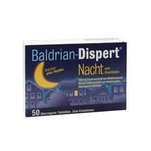 Baldrian Dispert Nacht zum Einschlafen überzogene Tabletten
