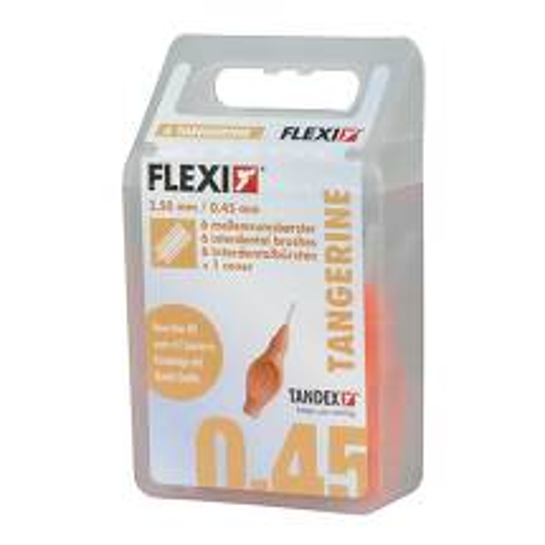 Produktbild Tandex Flexi Interdental Bürsten orange 0,45mm