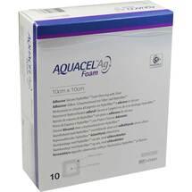 Aquacel Ag Foam adhäsiv 10x10cm Verband
