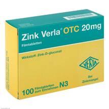 Produktbild Zink Verla Otc 20 mg Filmtabletten