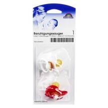 Produktbild Sauger Kirsche Latex Größe 1 0 - 6 Mon.weiß / rot