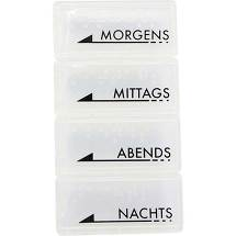 Produktbild Tablettendose mo / mi / ab / na mit Blin.Schr.weiß tra.