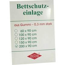 Produktbild Betteinlage 200x90cm weiß Gummiplatte 0,3 mm