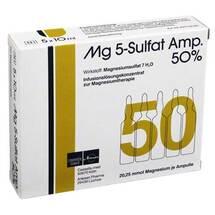 Produktbild MG 5 Sulfat Ampulle 50% Infusionslösungskonzentrat