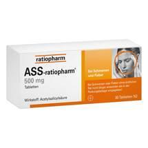 Produktbild ASS Ratiopharm 500 mg Tabletten