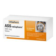 Produktbild ASS Ratiopharm 500 mg Tabletten