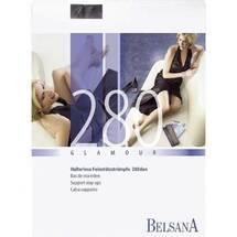Produktbild Belsana glamour AG 280d.kurz + Spitzenhaftband L schwarz mit S