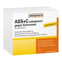 Produktbild ASS + C ratiopharm gegen Schmerzen Brausetabletten