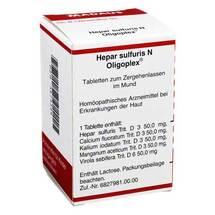 Produktbild Hepar sulfuris N Oligoplex Tabletten