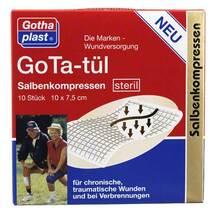 Produktbild Gota Tül Salbenkompressen 7,5x10 cm steril