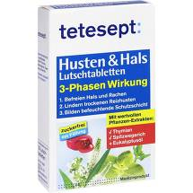 Produktbild Tetesept Husten + Hals Lutschtabletten