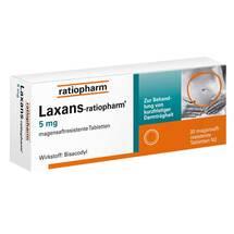 Laxans ratiopharm 5 mg magensaftresistent Tabletten