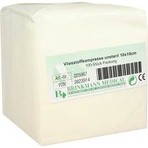 Vliesstoff-Kompressen 10x10 cm unsteril 4fach