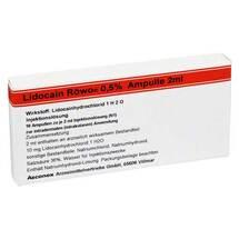 Produktbild Lidocain Röwo 0,5% Ampullen 2 ml