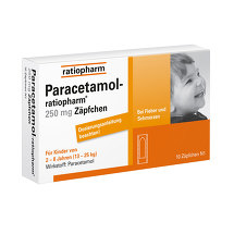 Paracetamol ratiopharm 250 mg Kleinkinder -Suppositorien