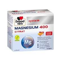 Doppelherz system Magnesium 400 Citrat Granulat