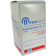 Produktbild Mullkompressen ES 10x10 cm unsteril 12-fach Größe 13