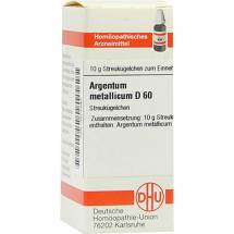 Produktbild Argentum metallicum D 60 Globuli