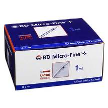 BD Micro-Fine + U 100 Ins.Spr. 12,7 mm