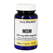 Produktbild MSM 500 mg GPH Kapseln