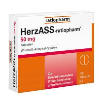 Produktbild Herzass ratiopharm 50 mg Tabletten