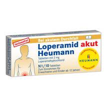 Produktbild Loperamid akut Heumann Tabletten