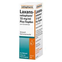Produktbild Laxans ratiopharm 7,5 mg / ml Pico Tropfen
