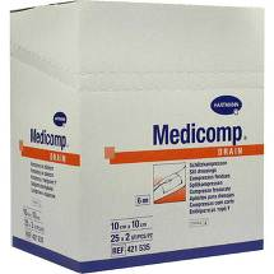 Produktbild Medicomp Drain Kompressen 10x10 cm steril
