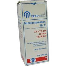 Produktbild Mullkompressen ES 7,5x7,5 cm unsteril 16-fach Größe 2