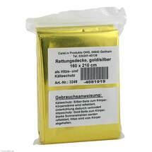 Produktbild Rettungsdecke gold / silber 160x210 cm