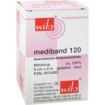 Produktbild Mediband 120 Mittelzugbinde 8 cm x 5 m hautfarben