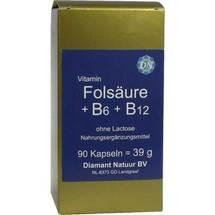 Produktbild Folsäure + B 6 + B 12 ohne Lactose Kapseln