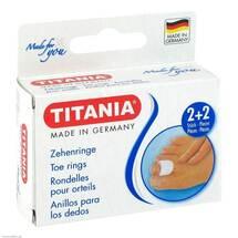 Produktbild Zehenringe 2 klein und 2 groß Titania