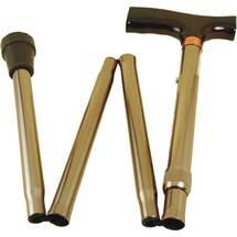 Produktbild Krankenstock faltbar bronze kurze Ausführung