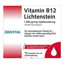 Produktbild Vitamin B12 1000 µg Lichtenstein Ampullen