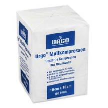 Urgo Mullkompressen 10x10 cm unsteril