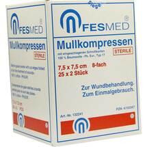 Produktbild Mullkompressen ES 7,5x7,5 cm steril 8-fach