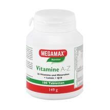 Produktbild Megamax Vitamine A-Z + Q10 + Lutein Tabletten