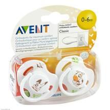 Produktbild Avent Beruhigungssauger 0 - 6 Mon.Tiermotive