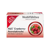 Produktbild H&S Cranberry Acerolakirsche Filterbeutel