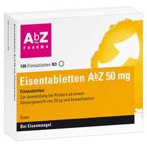 Produktbild Eisentabletten AbZ 50 mg Filmtabletten