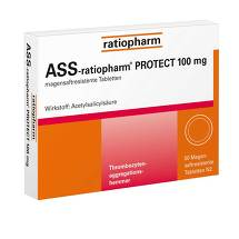 Produktbild ASS Ratiopharm Protect 100 mg magensaftresistent Tabletten