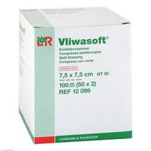 Produktbild Vliwasoft Schlitzkompressen 7,5x7,5cm 4-lag.steril