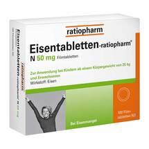 Produktbild Eisentabletten ratiopharm N 50 mg Filmtabletten