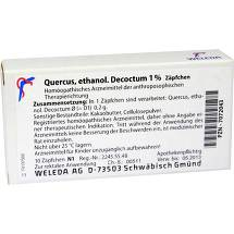Quercus ethanol. Decoctum 1% Suppositorien