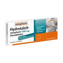 Produktbild Hydrotalcit ratiopharm 500 mg Kautabletten